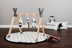 Moderne en bois bébé Gym douce Gym animaux jouets / jouer