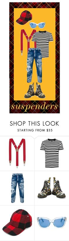 """""""patches & suspenders"""" by mo-g-v ❤ liked on Polyvore featuring Club Room, SELECTED, Dsquared2, Dr. Martens, AMI and Kate Spade"""
