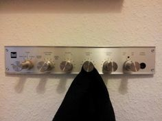 Upgrade Old Vinyl Player Knobs By Turning Them Into A Retro Coat Hanger | 17 Easy DIY Ways To Upgrade Your Life
