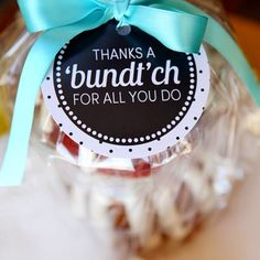 Creative & Unique Thank You Gifts thank-you-bundt-cake.use with bundtlets from nothing bundt cakes!thank-you-bundt-cake.use with bundtlets from nothing bundt cakes! Volunteer Appreciation Gifts, Volunteer Gifts, Teacher Appreciation Week, Teacher Gifts, Employee Appreciation, Volunteer Ideas, Teacher Treats, Parent Gifts, Student Gifts