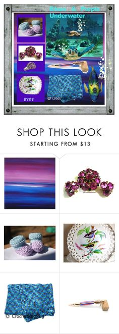 """""""Blue and Purple Underwater"""" by sylvia-cameojewels ❤ liked on Polyvore featuring WALL and Atlantis"""
