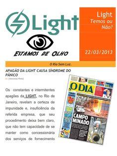OEB.Lider: Apagão da Light causa síndrome do pânico.