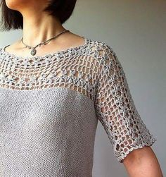 Crochet Blusas Julia - floral lace tunic Crochet pattern by Vicky Chan Designs Crochet Yoke, Mode Crochet, Crochet Motifs, Crochet Blouse, Crochet Triangle, Crochet Bodycon Dresses, Black Crochet Dress, Vicky Chan, Knitting Patterns