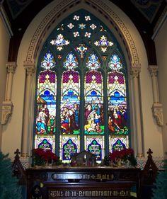 Sanctuary window at Christ Presbyterian Church, Lebanon PA.