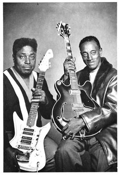 Two Blues greats, Johnny Shines & Mississippi Fred McDowell.....