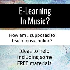 E-Learning & Music – Rivian Media Learning Music, Music Education, Health Education, Physical Education, Online Music Lessons, Music Online, Music Classroom, Music Teachers, Flipped Classroom
