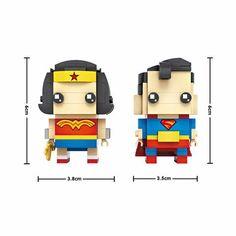 Wonder Woman, Superman BrickHeads