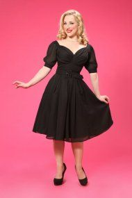 Miss Candyfloss Chiffon Black Dress 105 eu