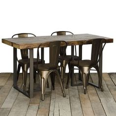 "Urban Wood Goods Uptown Dining Table Top Finish: Natural, Size: 30"" H x 42"" W x 108"" L"