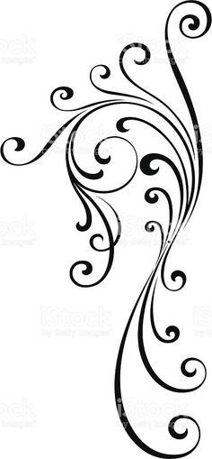 flourish design royalty-free flourish design stock vector art more images of angle Free Design, Design Art, Burning Flowers, Filigree Tattoo, Flying Tattoo, Norwegian Rosemaling, Butterfly Drawing, Wood Burning Patterns, Jewelry Tattoo