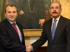 Presidente Medina recibe visita del canciller del Líbano