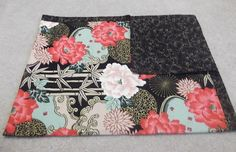 Oriental Roses Quilted Blanket by HollyHomemadeGoodies on Etsy, $48.50