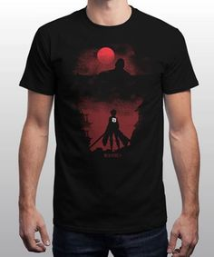 """""""Titan"""" is today's £8/€10/$12 tee for 24 hours only on www.Qwertee.com Pin this for a chance to win a FREE TEE this weekend. Follow us on pinterest.com/qwertee for a second! Thanks:) (This promotion is in no way sponsored endorsed or administered by or associated with Facebook.)"""