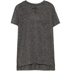 Rag & bone The Pocket Tee jersey T-shirt featuring polyvore, fashion, clothing, tops, t-shirts, shirts, tees, dresses, grey, grey pocket t shirts, grey pocket tee, t shirts, side slit t shirt and jersey t shirts