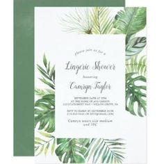 Victorian Home Interior Wild Tropical Palm Bridal Luncheon Invitation.Victorian Home Interior Wild Tropical Palm Bridal Luncheon Invitation Bridal Luncheon Invitations, Lingerie Shower Invitations, Bridal Lingerie Shower, Blush Bridal Showers, Baby Sprinkle Invitations, Couples Shower Invitations, Beach Wedding Invitations, Invites, Wedding Stationery