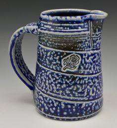 "Soda-fired Jug 6"". 2020 Gillian McMillan Soda, Mugs, Tableware, Beverage, Dinnerware, Soft Drink, Tumblers, Tablewares, Sodas"