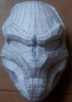 Life Size Predator Mask Papercraft Free Template Download