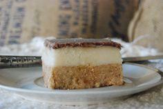 """""""Almost Raw"""" Honey Choc Macadamia Slice. Gluten Free, Dairy Free."""