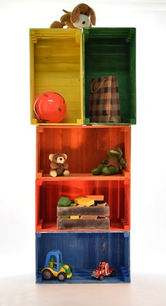 Crate Kids Shelves #2 Dimensions: width 49 depth 27cm height 23cm Materials: Wood