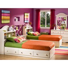 "South Shore Mates Twin Bed Box - Vanilla Cream - South Shore Furniture - Toys ""R"" Us"