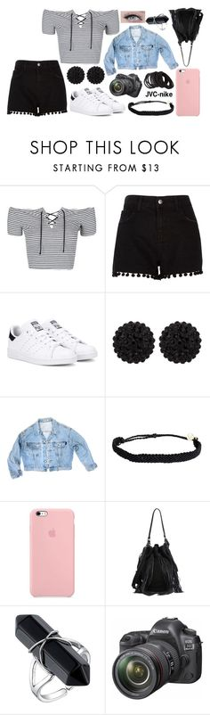 """3rd August - ""Happiness looks gorgeous on you"""" by jvc-nike ❤ liked on Polyvore featuring Topshop, River Island, adidas Originals, sweet deluxe, GUESS, Pura Vida, Loeffler Randall, Eos and Forever 21"
