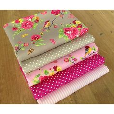 Ditsy Twitter {taupe & pink} Fabric Bundle