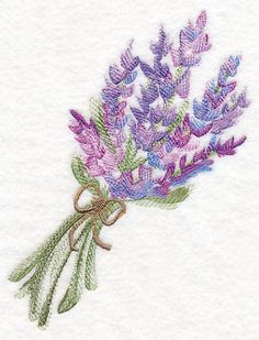 Lavender Bouquet in Watercolor