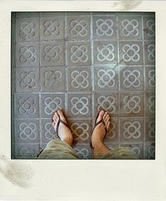 Barcelona - Floor tile - This design has become one of the identity signs of Barcelona.