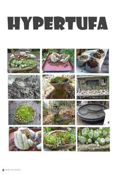 , Use Hypertufa to create some unusual garden crafts and unique rugged and rustic planters to display planted with your favorite tiny hardy succulents, . , Hypertufa - playing with mud Garden Crafts, Garden Art, Garden Design, Garden Fences, Succulents In Containers, Succulents Garden, Unique Gardens, Amazing Gardens, Rustic Planters