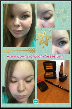 I had SO much fun trying out this make up today! I was able to wear it all day while I ran errands with no creasing or smudging at all!   Here's how I did it: ⭐ True Color Glimmersticks Eye Liner ON SALE $4.99 ⭐ Avon True Color Multi-Finish Eyeshadow Quad ON SALE $5.99 ⭐ MEGA Effects Mascara with Keratin ON SALE $7.99 ⭐ True Color Nourishing Lipstick ON SALE $5.99  Click the picture to order or go to www.youravon.com/jesselynn