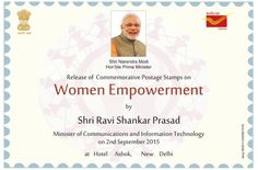 Dedicated to #women of #India & their contributions in every walk of life. Releasing today stamp on #womenempowerment