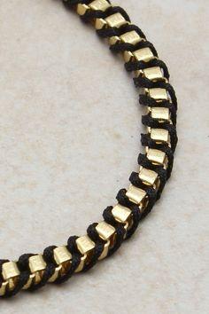 brass + cord bracelet
