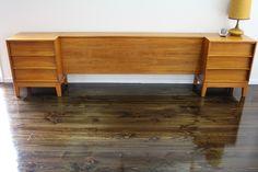 Cliff Hayton Mid Century Hayson Bed Head Drawers Teak Vintage Retro | 360 Modern Furniture