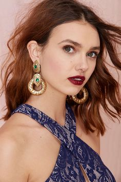 Her Highness Hoop Earrings   Shop What's New at Nasty Gal