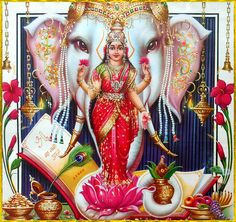 Lakshmi has also been a goddess of abundance and fortune for Buddhists Lakshmi hindu art Lakshmi wealth Lakshmi goddesses Lakshmi haram Lakshmi tanjore painting Lakshmi vaddanam Lakshmi bangle Lakshmi decoration Lakshmi necklace Shiva Art, Hindu Art, Ganesh Aarti, Hanuman Chalisa, Krishna, Durga Maa, Diwali Pooja, Lakshmi Images, Hindu Culture