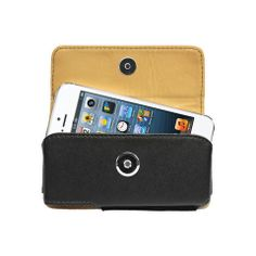 Cellet Horizontal Noble Leather Holster for iPhone 5 & 5s - Black – shop.gifts.com