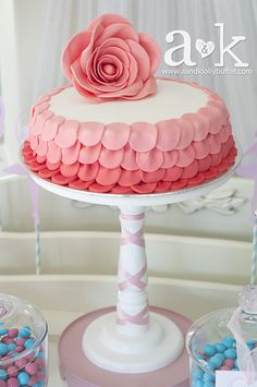 Such a pretty cake at a Ballerina party!   See more party ideas at CatchMyParty.com!  #partyideas #ballerina