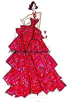 Hayden Williams Fashion Illustrations: Valentines Day Couture by Hayden Williams