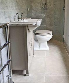 Paris Grey limestone and Carrara marble bathroom Carrara Marble Bathroom, Marble Bathroom Floor, Loft Bathroom, Bathroom Flooring, Small Bathroom, Master Bathroom, Tile Floor, Bathrooms, White Bathroom