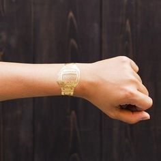 Gold Party Watch Tattoo