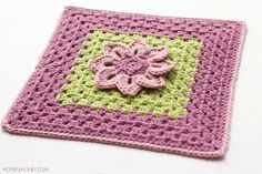 Water Lily Afghan Square - Free Crochet Pattern by Olivia / Hopeful Honey