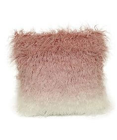 Another great find on #zulily! Pink Ombré Faux Fur Throw Pillow #zulilyfinds