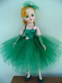 Green Tutu, Vintage Madame Alexander Dolls, Glamour Dolls, Old Dolls, Craft Rooms, Doll Stuff, Revlon, Doll Accessories, Beautiful Dolls
