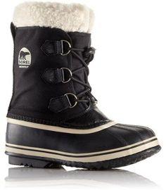 Sorel Yoot Nylon Pac Boots Black Kids 4