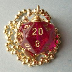 Dungeons and Dragons  D20 Die Pendant  by pawandclawdesigns, $15.00