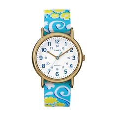Timex Women's Weekender Floral Reversible Watch - TW2P90100JT, Size: Medium, multicolor