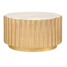 Add contemporary ambiance to your living room with the gold leaf, scalloped Clove Coffee Table from Worlds Away. This chic, round cocktail table is topped with beautiful white marble, making it a must-have! Marble Top Coffee Table, Small Coffee Table, Modern Coffee Tables, Coffee Cups, Gold Candelabra, Grey Kitchen Designs, Coffee Tables For Sale, Kitchen Cabinet Styles, Kitchen Cabinets