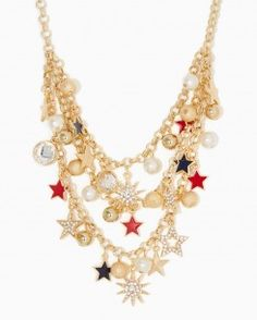 Americana Triple Charm Necklace