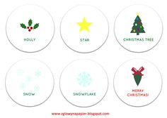DIY Christmas memory game