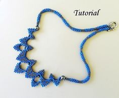 SYDNEY beaded necklace beading tutorial by PeyoteBeadArt on Etsy